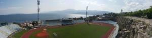 Lo stadio Cantrida, a Fiume (Rijeka), in Croazia