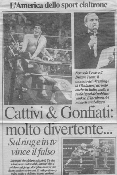 Un articolo di Repubblica dell'agosto 1992.