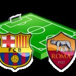 barcellona roma champions league diretta tv live streaming