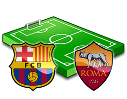 barcellona roma champions league diretta tv live streaming