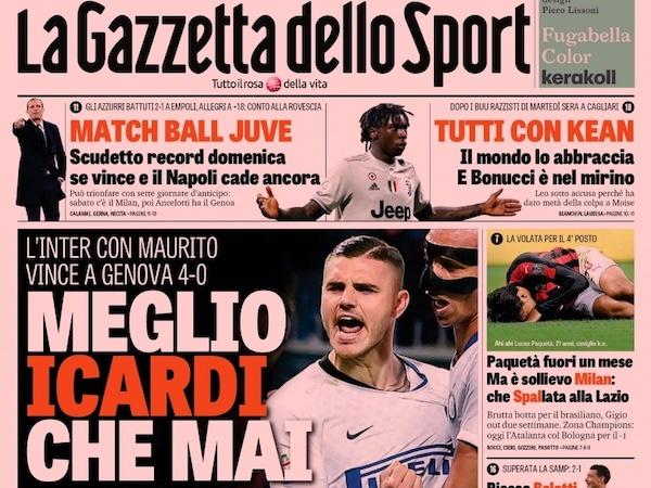 Le prime pagine sportive di oggi gioved 4 aprile il - Pagine di ringraziamento e divertimento ...