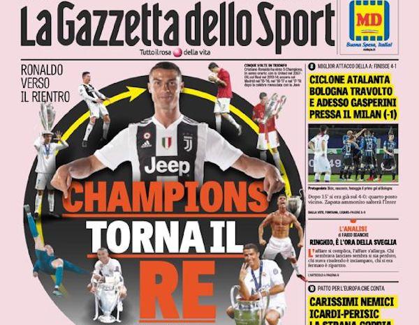 Le prime pagine sportive di oggi venerd 5 aprile il - Pagine di ringraziamento e divertimento ...