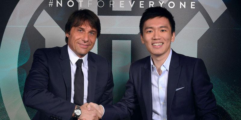 Antonio Conte e Steven Zhang