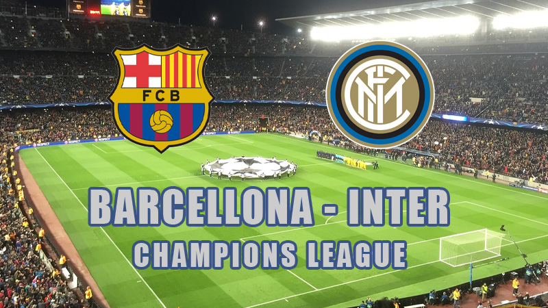 live barcellona inter streaming diretta tv champions league