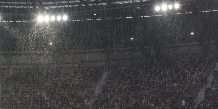 stadio pioggia